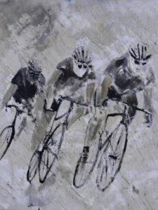 Artland Alubilder »Pol Ledent_ Fahrrad fahren im Regen« online kaufen _ OTTO